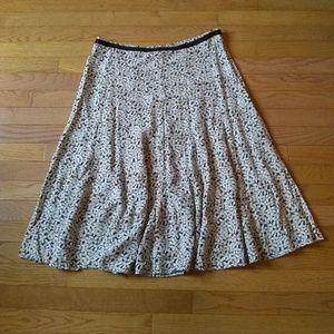 (5/$20) Christopher and Banks brown skirt